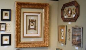Favorite customer frames on the west wall