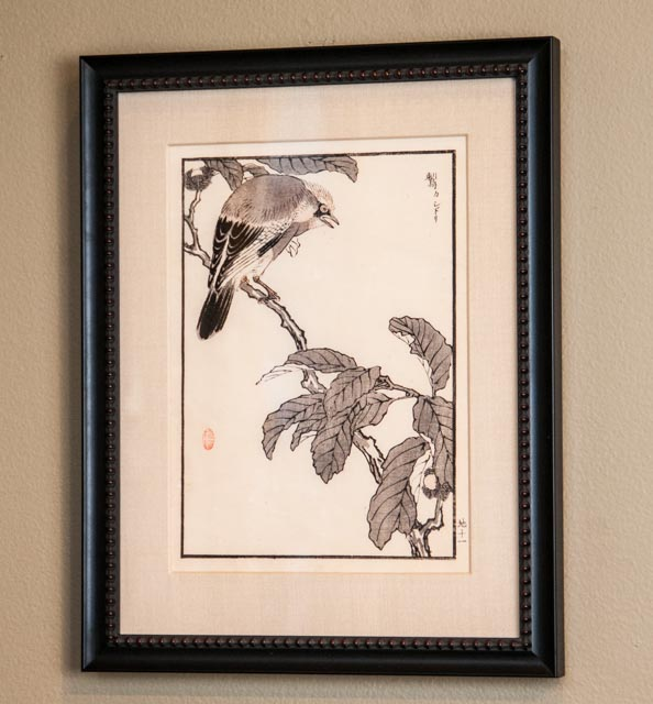 Bird Woodblock Print