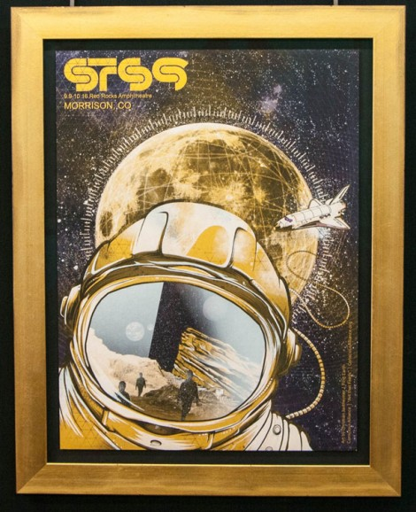 Framed concert poster – Sound Tribe Sector 9