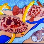 AUM Gallery has Elizabeth (Betsy) Beattie's whimsical art at unbelievable prices