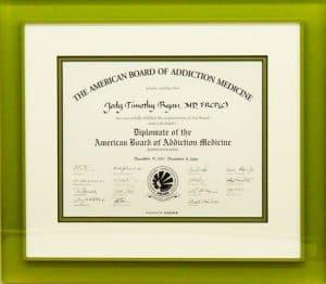 Diploma document frame