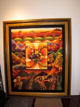 AUM Framing framed textile rug