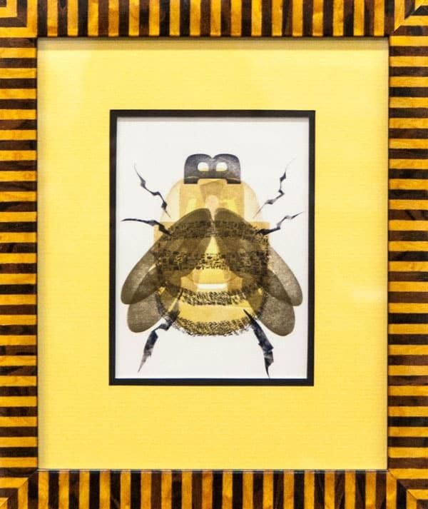 Honey Bee artwork in frame