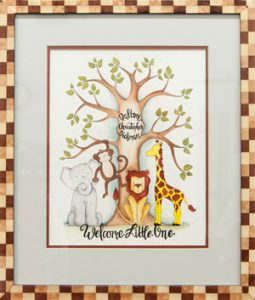 Geurrini - Lion, Elephant, Tree