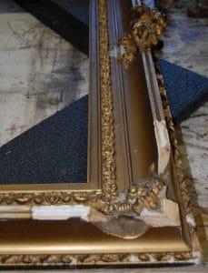 Broken frame in need of restoration