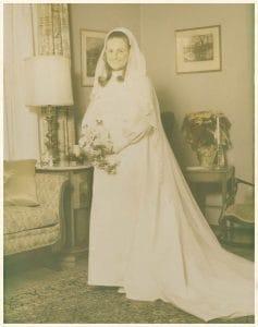 Aged wedding photo