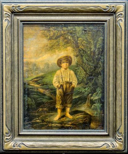 'Boy', Oil on board