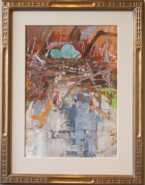 Abstract Art - Hand Carved + Gilded Frame