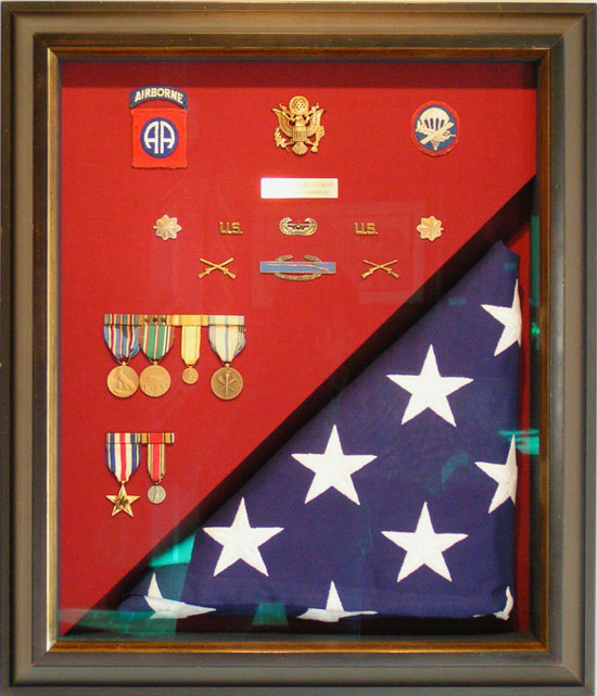 American Flag & Medals