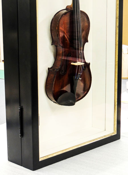 Violin Display Case Detail