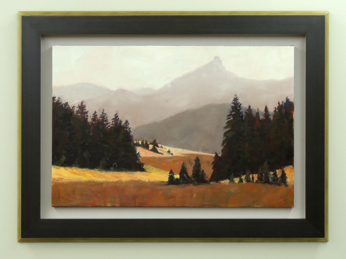 Mountain Painting Custom Framed
